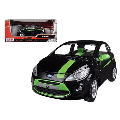 Ford Ka Black and Green 1/24 Diecast Model Car by Motormax