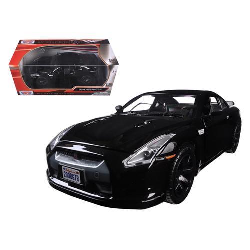 2008 Nissan GT-R R-35 Glossy Black 1/24 Diecast Model Car by Motormax
