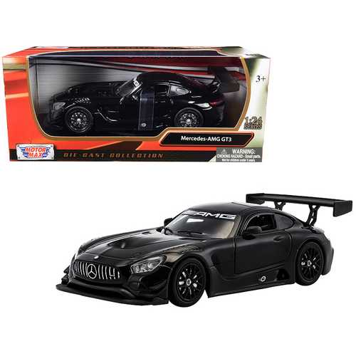 Mercedes AMG GT3 Black 1/24 Diecast Model Car by Motormax
