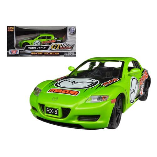 Mazda RX-8 Green #5 GT Racing 1/24 Diecast Car Model by Motormax