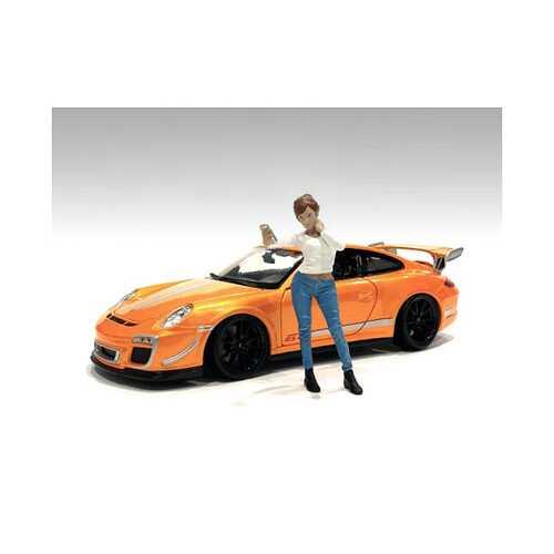 """Car Meet 1"" Figurine I for 1/24 Scale Models by American Diorama"