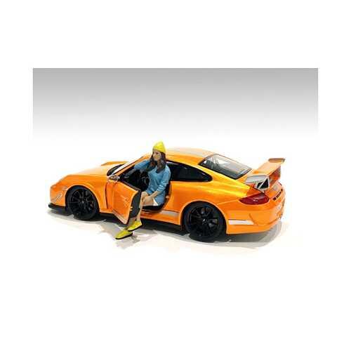 """Car Meet 1"" Figurine III for 1/24 Scale Models by American Diorama"