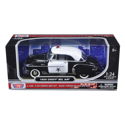 1950 Chevrolet Bel Air Police 1/24 Diecast Model Car by Motormax