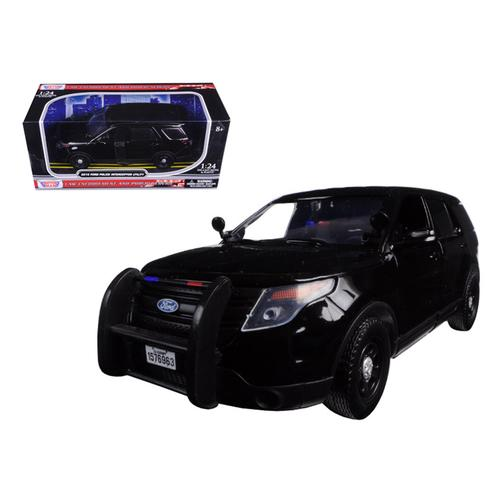 2015 Ford Interceptor Unmarked Police Car Black 1/24 Diecast Model Car by Motormax