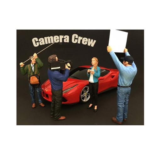 """Camera Crew"" 4 piece Figurine Set for 1/18 Scale Models by American Diorama"