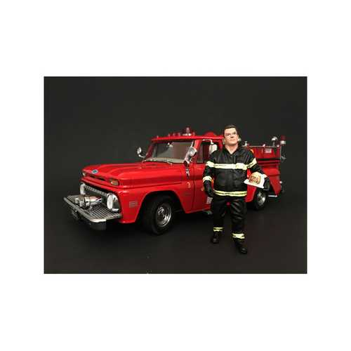 Firefighter Fire Chief Figurine / Figure For 1:18 Models by American Diorama