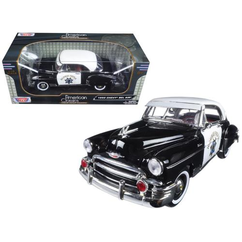 1950 Chevrolet Bel Air California Highway Patrol (CHP) 1/18 Diecast Model Car  by Motormax