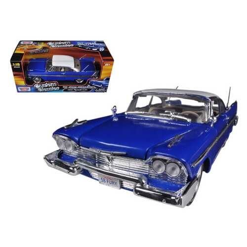 1958 Plymouth Fury Custom Blue with White Top 1/18 Diecast Model Car by Motormax