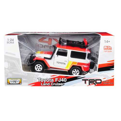 Toyota FJ40 Land Cruiser TRD White Limited Edition to 2,400 pieces Worldwide 1/24 Diecast Model Car by Motormax
