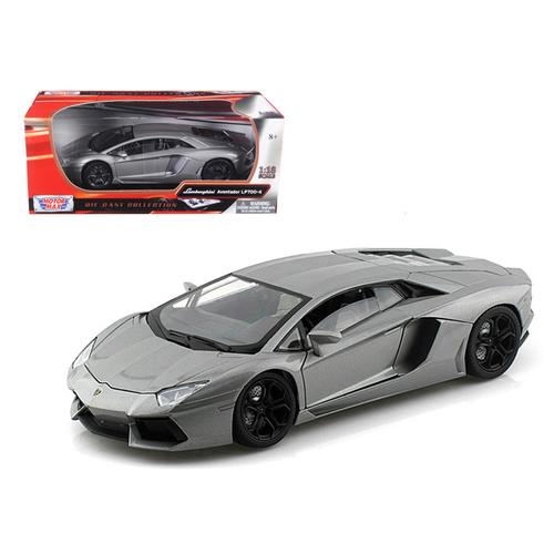 Lamborghini Aventador LP700-4 Gray Metallic 1/18 Diecast Model Car by Motormax