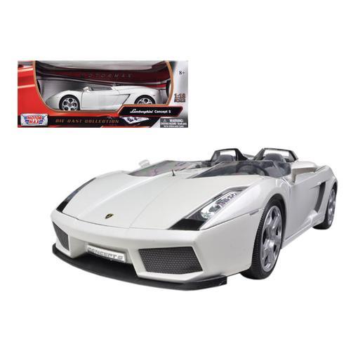Lamborghini Concept S Pearl White 1/18 Diecast Car Model by Motormax