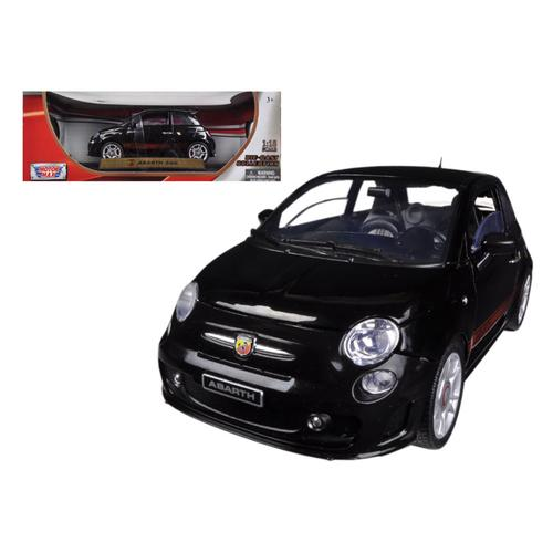 Fiat 500 Abarth Black 1/18 Diecast Car Model by Motormax
