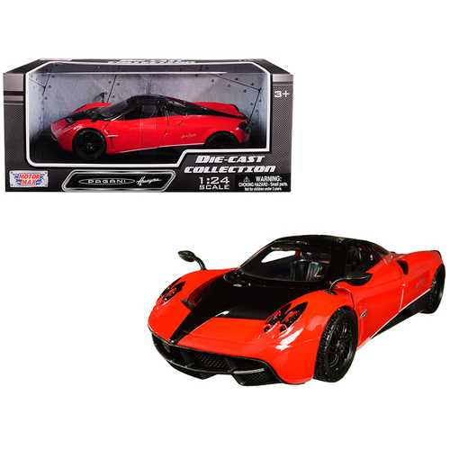 Pagani Huayra Red with Black Wheels 1/24 Diecast Model Car by Motormax