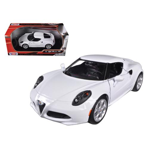 Alfa Romeo 4C White 1/24 Diecast Model Car by Motormax
