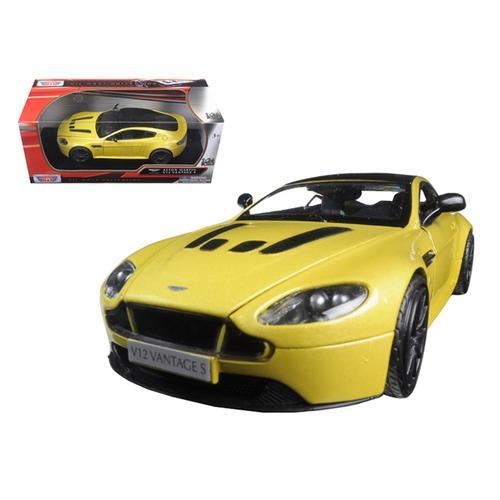 Aston Martin Vantage S V12 Yellow 1/24 Diecast Model Car by Motormax