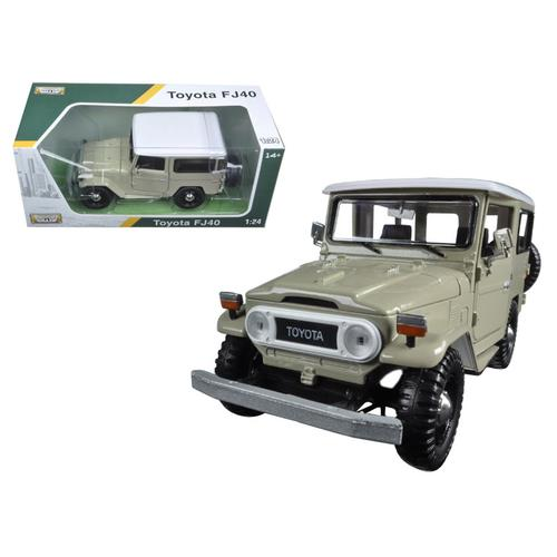 Toyota FJ40 Beige 1/24 Diecast Model Car by Motormax