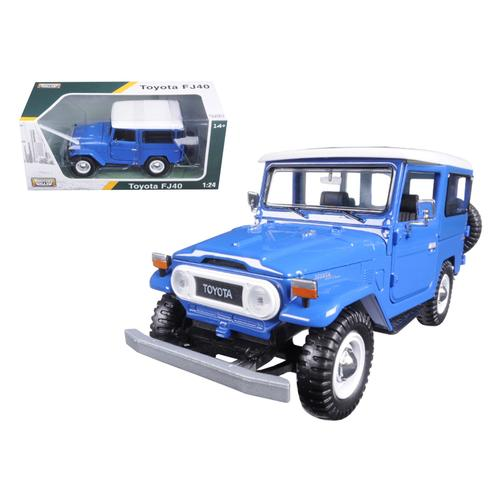 Toyota FJ40 Blue 1/24 Diecast Model Car by Motormax