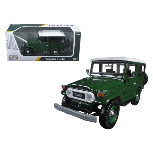 Toyota FJ40 Dark Green 1/24 Diecast Model Car by Motormax