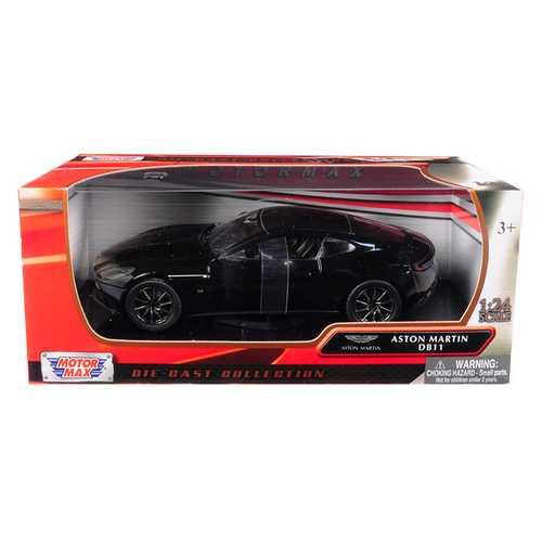 Aston Martin DB11 Black 1/24 Diecast Model Car by Motormax