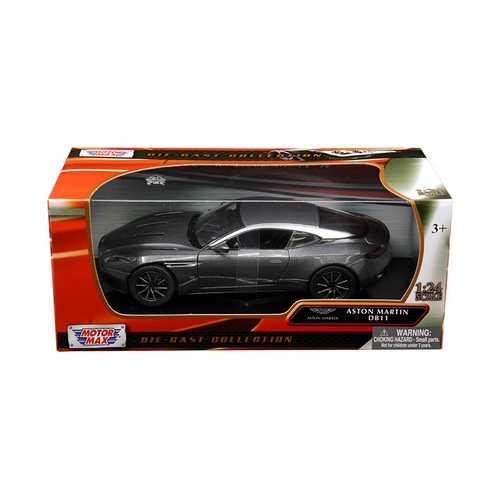 Aston Martin DB11 Silver 1/24 Diecast Model Car by Motormax