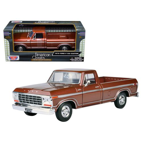 1979 Ford F-150 Pickup Truck Brown 1/24 Diecast Model Car by Motormax