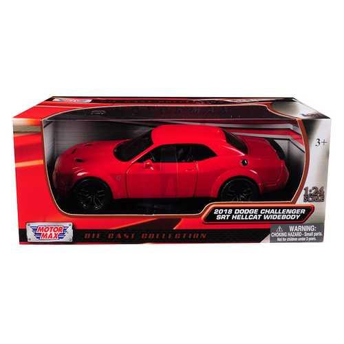 2018 Dodge Challenger SRT Hellcat Widebody Red 1/24 Diecast Model Car by Motormax