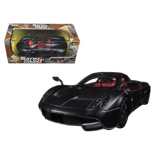Pagani Huayra Matt Black 1/24 Diecast Model Car by Motormax