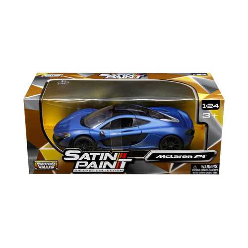 McLaren P1 Matt Blue 1/24 Diecast Model Car by Motormax