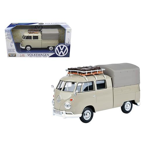 Volkswagen Type 2 (T1) Delivery Pickup Truck Beige 1/24 Diecast Model Car by Motormax