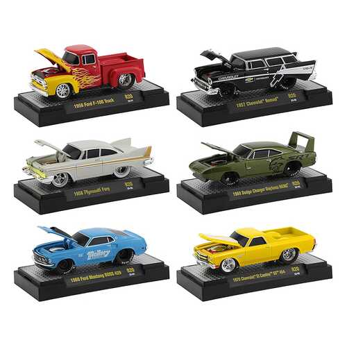 """""""Ground Pounders"""" 6 Cars Set Release 20 IN DISPLAY CASES 1/64 Diecast Model Cars by M2 Machines"""