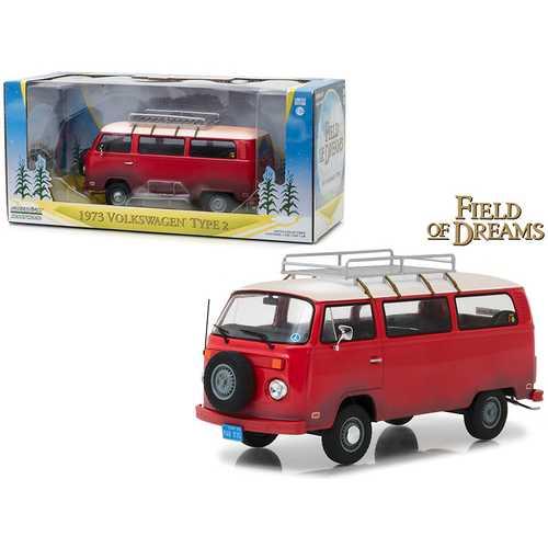 "1973 Volkswagen Bus Type 2 (T2B) Red ""Field of Dreams"" Movie (1989) 1/24 Diecast Model by Greenlight"