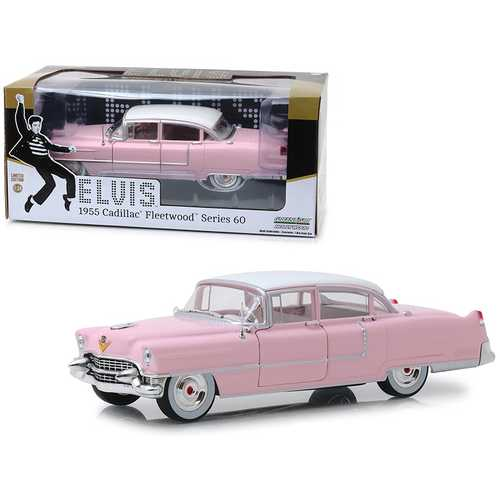 "1955 Cadillac Fleetwood Series 60 ""Pink Cadillac"" Elvis Presley (1935-1977) 1/24 Diecast Model Car by Greenlight"