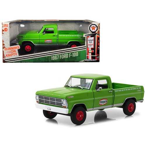 "1967 Ford F-100 Pickup Truck ""Texaco Motor Oil"" Green Running on Empty Series 1/24 Diecast Model Car by Greenlight"
