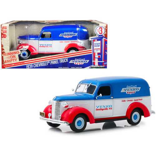 """1939 Chevrolet Panel Truck """"Yenko Sales and Service"""" """"Running on Empty"""" Series 3 1/24 Diecast Model Car by Greenlight"""