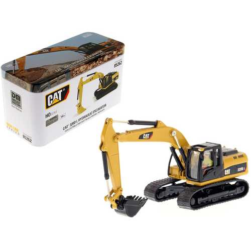"CAT Caterpillar 320D L Hydraulic Excavator with Operator ""High Line"" Series 1/87 (HO) Scale Diecast Model by Diecast Masters"