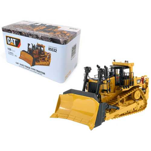 CAT Caterpillar D10T2 Track Type Tractor Dozer with Operator High Line Series 1/50 Diecast Model by Diecast Masters
