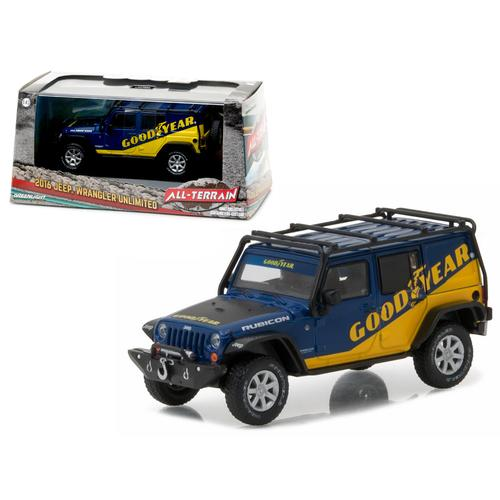 2016 Jeep Wrangler Unlimited Good Year with Roof Rack, Fender Flares, and Winch With Display Showcase 1/43 Diecast Model Car by Greenlight