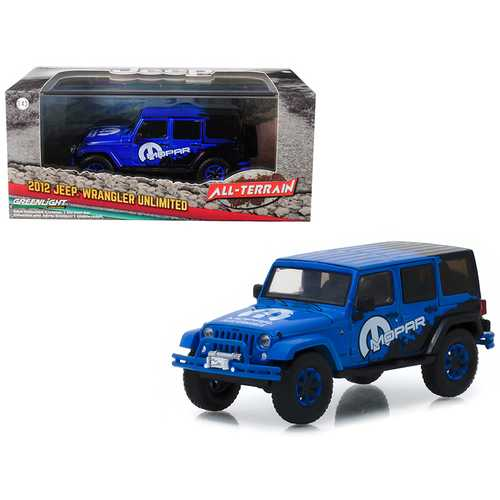 "2012 Jeep Wrangler Unlimited ""MOPAR"" Off Road Edition Blue ""All-Terrain"" Series 1/43 Diecast Model Car  by Greenlight"