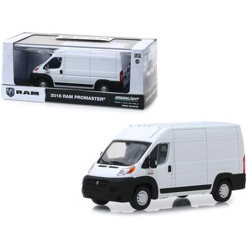 2018 RAM ProMaster 2500 Cargo Van High Roof Bright White 1/43 Diecast Model by Greenlight