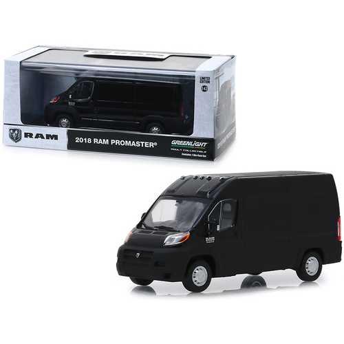 2018 RAM ProMaster 2500 Cargo Van High Roof Brilliant Black 1/43 Diecast Model by Greenlight