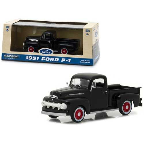 1951 Ford F-1 Pickup Truck Raven Black 1/43 Diecast Model Car by Greenlight