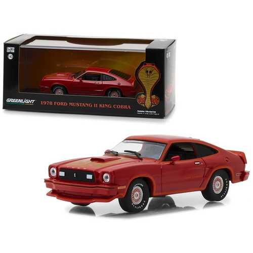 1978 Ford Mustang Cobra II Red 1/43 Diecast Model Car by Greenlight