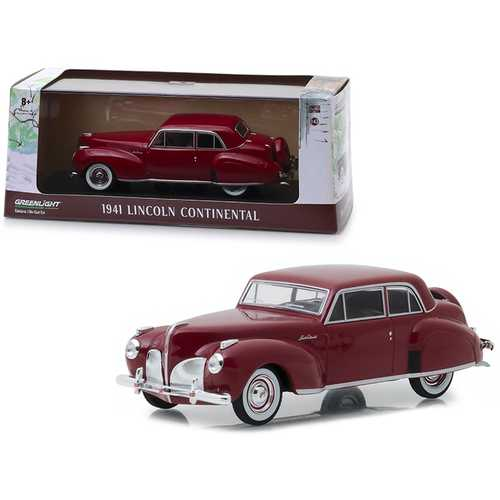 1941 Lincoln Continental Mayfair Maroon 1/43 Diecast Model Car by Greenlight