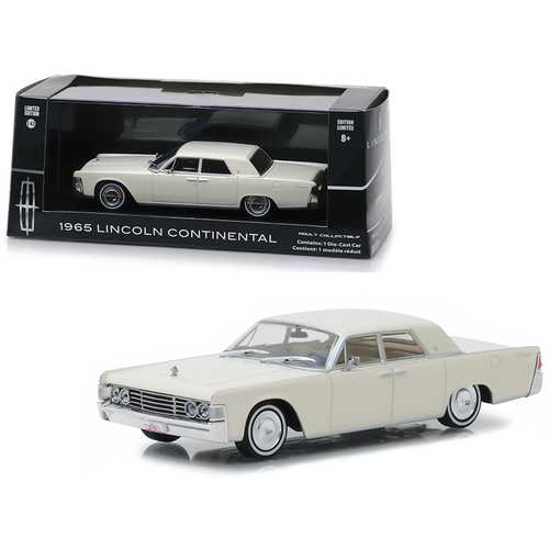 1965 Lincoln Continental Wimbledon White 1/43 Diecast Model Car by Greenlight
