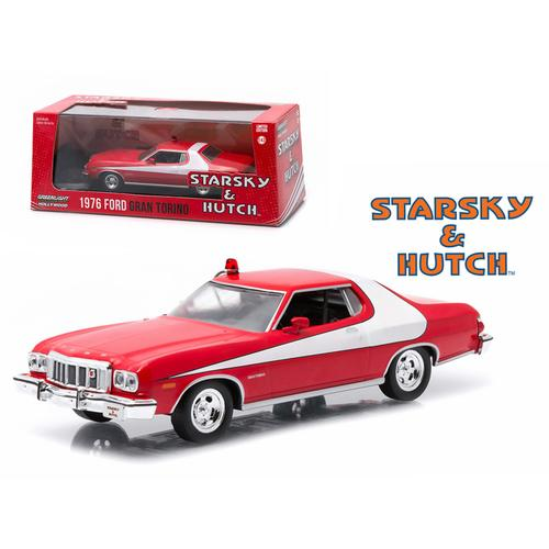 """1976 Ford Gran Torino \""""Starsky and Hutch\"""" TV Series (1975-79) 1/43 Diecast Model Car by Greenlight"""