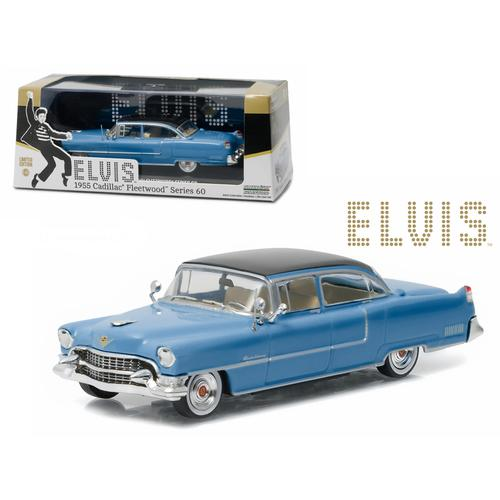 "Elvis Presley 1955 Cadillac Fleetwood Series 60 ""Blue Cadillac"" (1935-1977) 1/43 Diecast Model Car  by Greenlight"