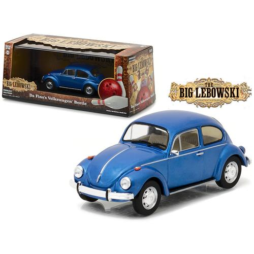 "Da Fino's Volkswagen Beetle Blue ""The Big Lebowski"" Movie (1998) 1/43 Diecast Model Car by Greenlight"