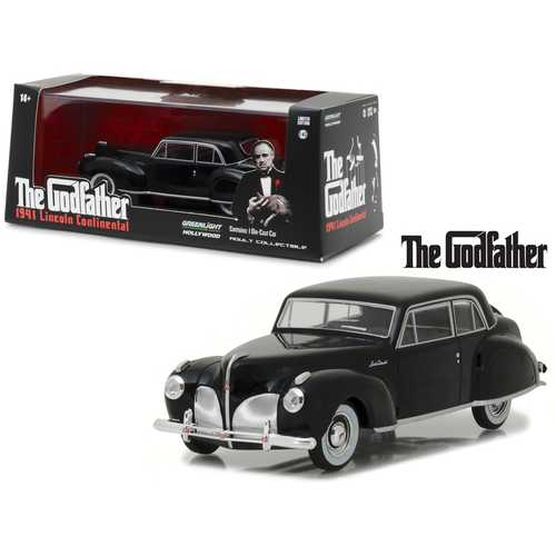 "1941 Lincoln Continental Black ""The Godfather\"" Movie (1972) 1/43 Diecast Model Car by Greenlight"