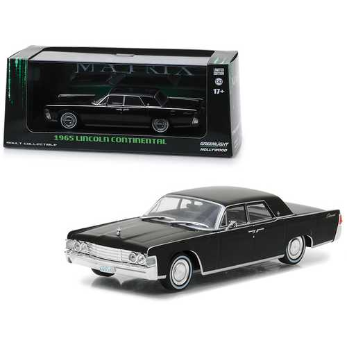 "1965 Lincoln Continental Black ""The Matrix"" (1999) Movie 1/43 Diecast Model Car  by Greenlight"