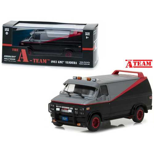 "1983 GMC Vandura ""The A-Team"" (1983-1987) TV Series 1/43 Diecast Model Car by Greenlight"